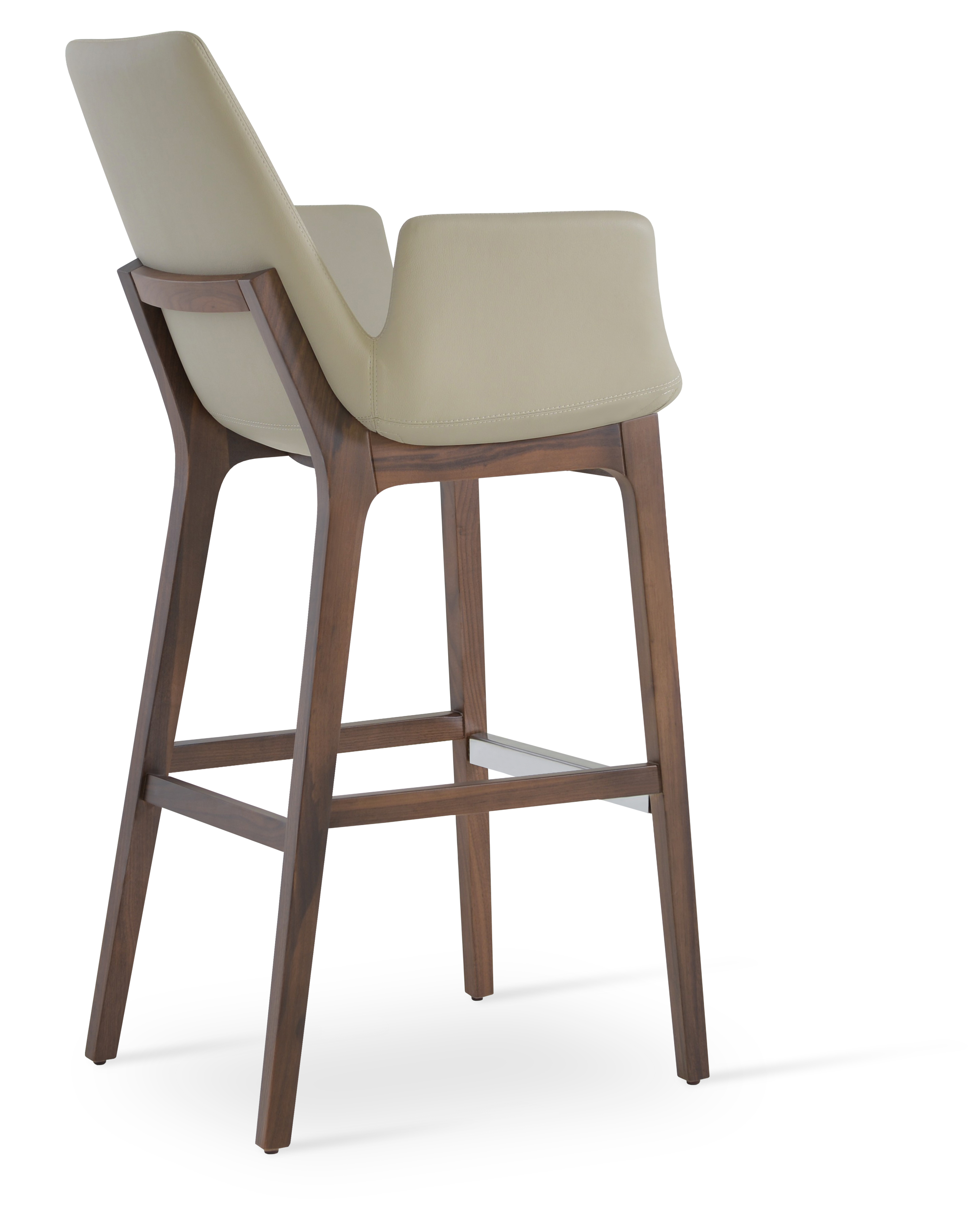 Eiffel Wood Arm Stools Euroform Contract Furniture